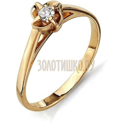 Кольцо с бриллиантом Т101011559