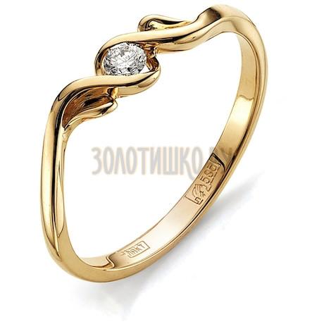 Кольцо с бриллиантом Т101011571