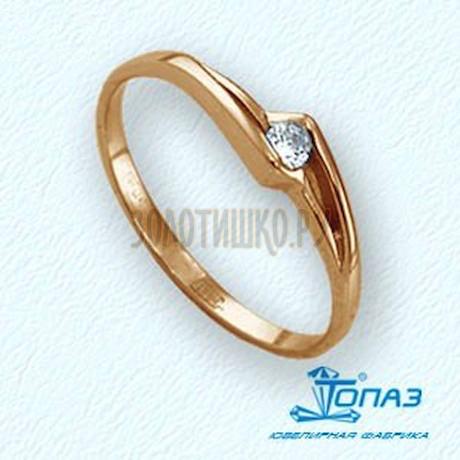 Кольцо с бриллиантом Т101011575
