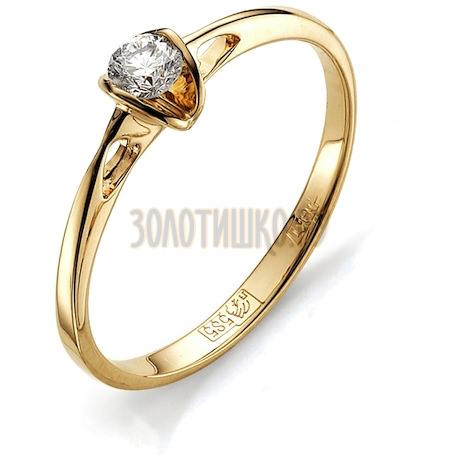 Кольцо с бриллиантом Т101011647