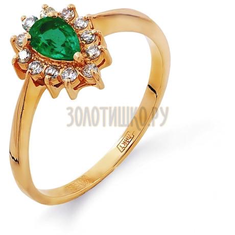 Кольцо с изумрудом и бриллиантами Т101011762_3