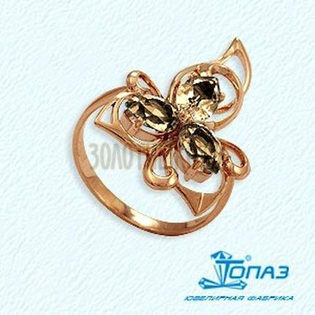 Кольцо с раухтопазами Т101012118