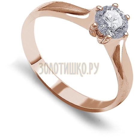 Кольцо с бриллиантом Т101012207