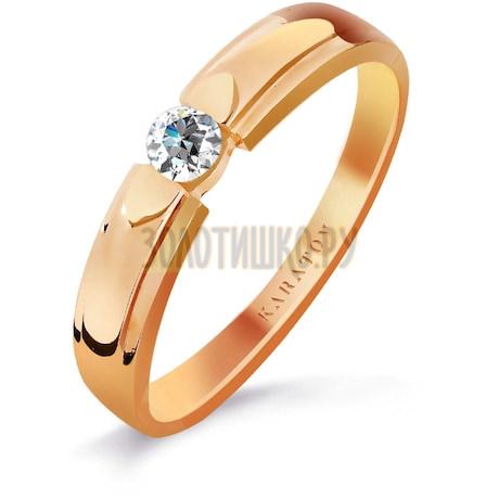 Кольцо с бриллиантом Т101016336