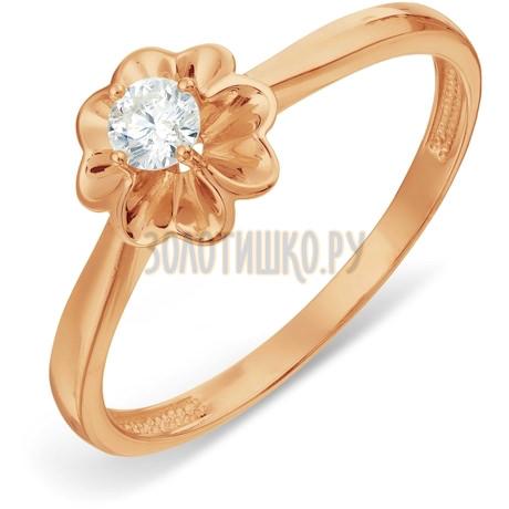 Кольцо с бриллиантом Т101017828