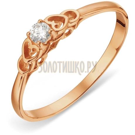 Кольцо с бриллиантом Т101018187