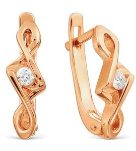 Серьги с бриллиантами Т101021736