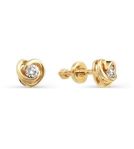 Серьги с бриллиантами Т101021737