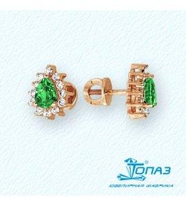 Серьги с изумрудами и бриллиантами Т101021930_3