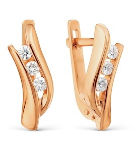 Серьги с бриллиантами Т101021987