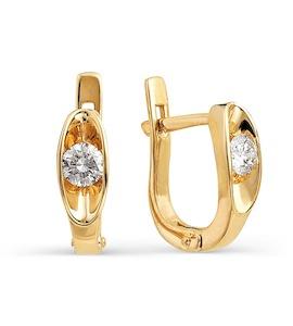 Серьги с бриллиантами Т101021989