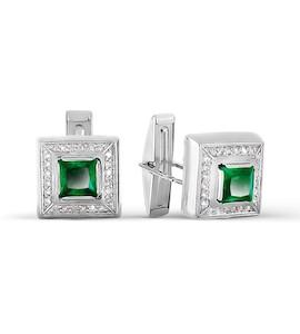 Запонки с бриллиантами и ониксами Т30119088-01
