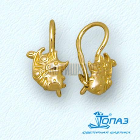 Серьги из желтого золота Т90002828