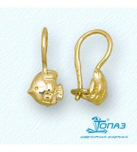Серьги из желтого золота Т90002944