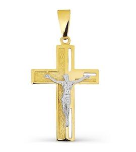 Крестик из желтого золота Т93006636