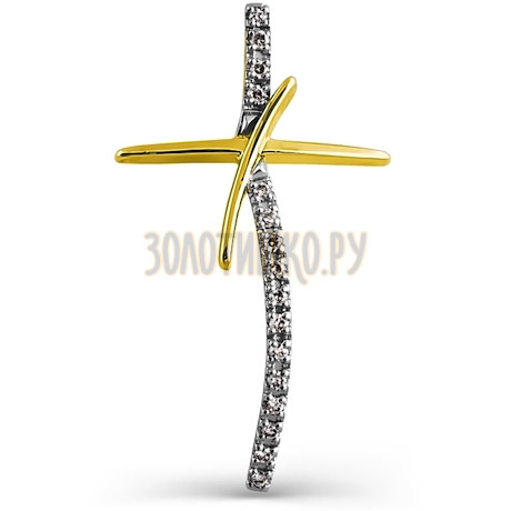 Крестик с бриллиантами Т94106404