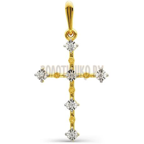 Крестик с бриллиантами Т94566346