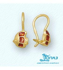 Серьги с эмалью Т95002915