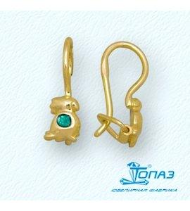 Серьги с эмалью Т95002916