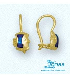 Серьги с эмалью Т95002917