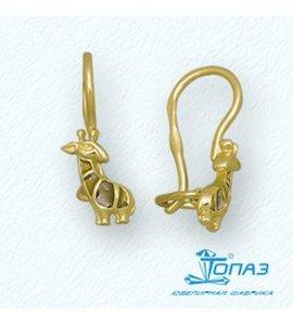 Серьги из желтого золота Т95002940