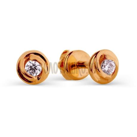 Серьги из красного золота Т101026303