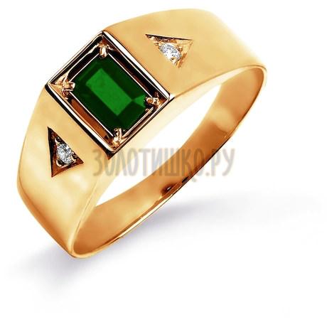 Кольцо с изумрудом и бриллиантами Т101045222_3