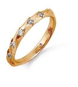 Кольцо обручальное с бриллиантами Т101613715