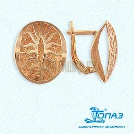 Серьги из красного золота Т110622905