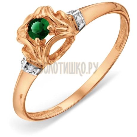 Кольцо с изумрудом и бриллиантами Т116018273