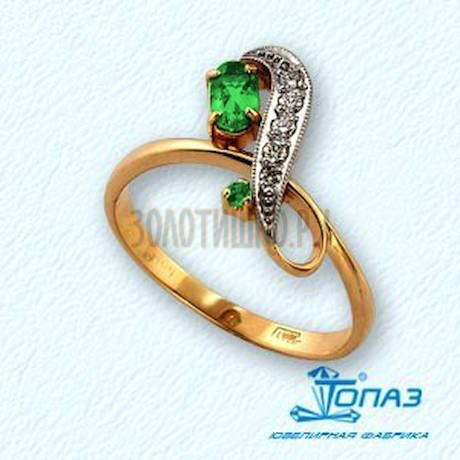 Кольцо с изумрудами и бриллиантами Т131011286_3