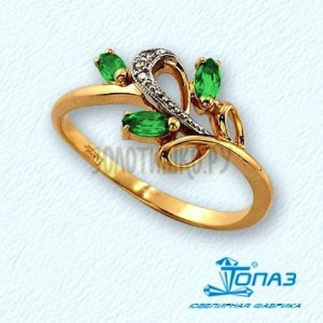 Кольцо с изумрудами и бриллиантами Т131011299_2