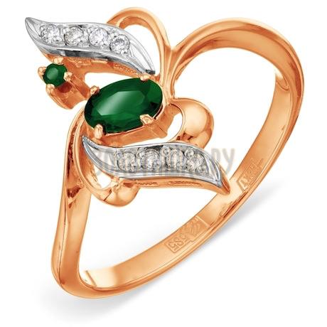 Кольцо с изумрудами и бриллиантами Т131011301_3