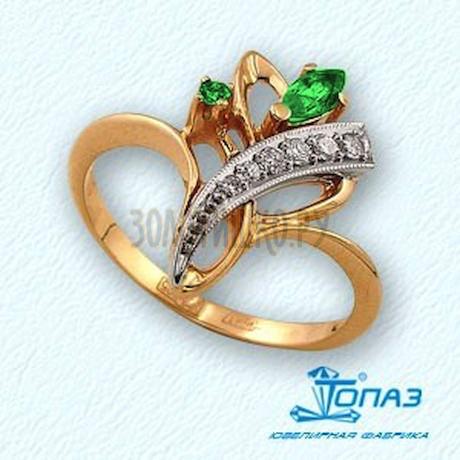 Кольцо с изумрудами и бриллиантами Т131011303_2