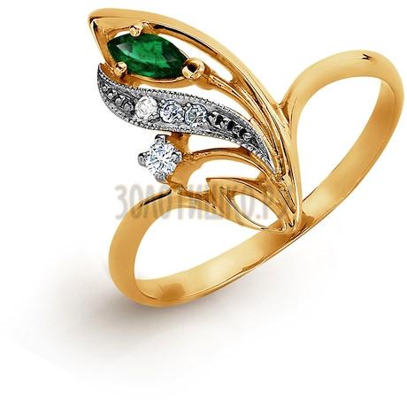 Кольцо с изумрудом и бриллиантами Т131011386_2