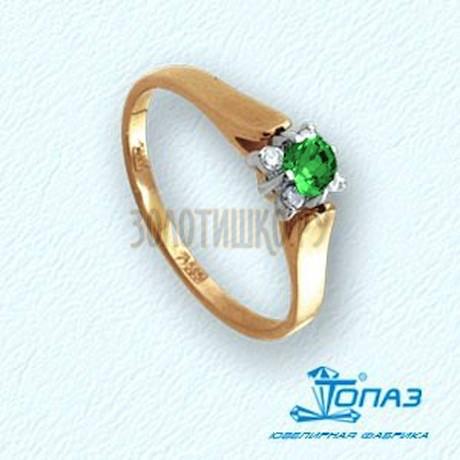 Кольцо с изумрудом и бриллиантами Т131011538_2