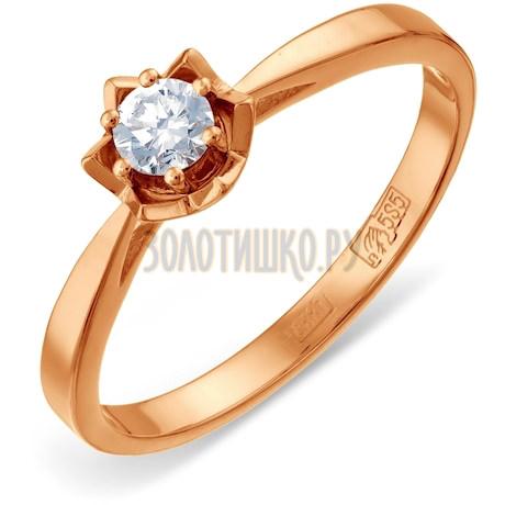 Кольцо с бриллиантом Т131011725