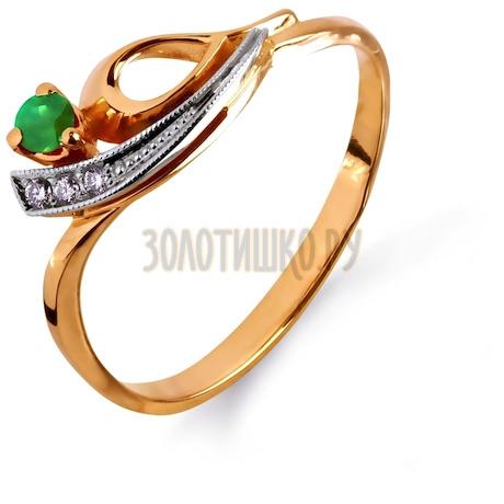 Кольцо с изумрудом и бриллиантами Т131011764_2