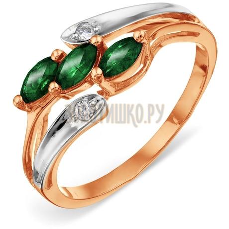 Кольцо с изумрудами и бриллиантами Т131011774-1_2