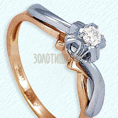 Кольцо с бриллиантом Т131011899-1