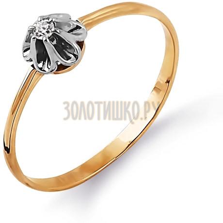 Кольцо с бриллиантом Т131014360