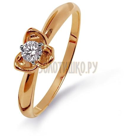 Кольцо с бриллиантом Т131015317