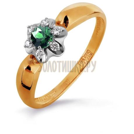 Кольцо с изумрудом и бриллиантами Т131016188-01