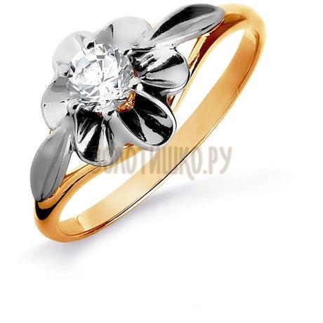 Кольцо с бриллиантом Т131016189