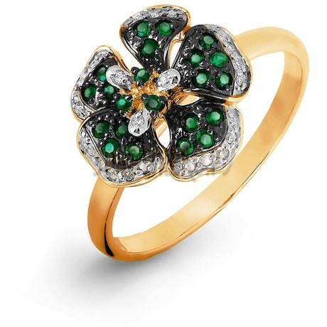 Кольцо с изумрудами и бриллиантами Т131016498_2