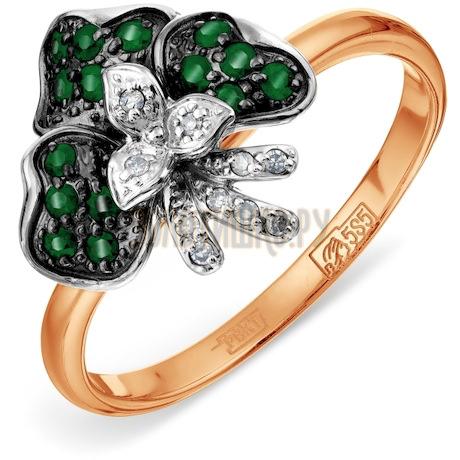 Кольцо с изумрудами и бриллиантами Т131016502_3