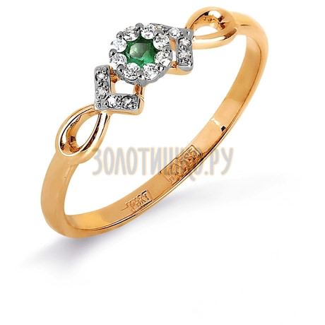Кольцо с изумрудом и бриллиантами Т131017124_3