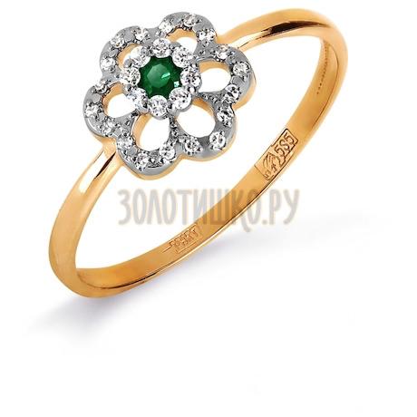 Кольцо с изумрудом и бриллиантами Т131017127