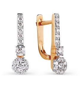 Серьги с бриллиантами Т131025219