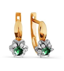 Серьги с изумрудами и бриллиантами Т131026381-01_3